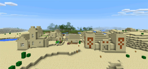 3095014: Desert Village With Temple & Blacksmith