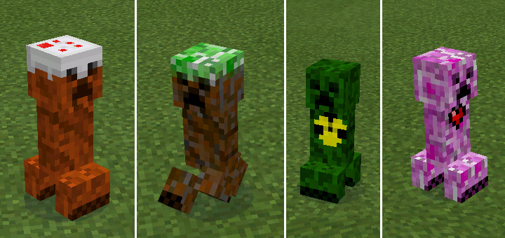 elemental creepers mod minecraft pe mods addons