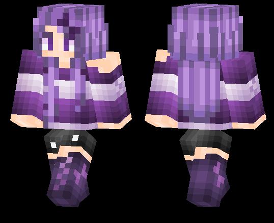 Purple Girl | Minecraft PE Skins