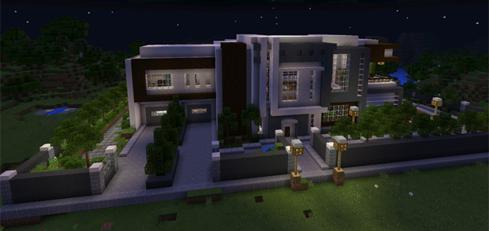 . Modern Mansion  Creation    Minecraft PE Maps