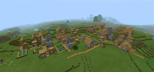 -1385905961: Triple Village At Spawn