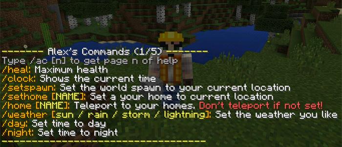 Alex's Commands Mod | Minecraft PE Mods & Addons