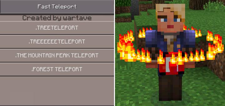 Fast Teleport Mod Minecraft PE Mods Addons - Minecraft player teleport mod