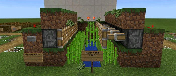 8 Automatic Farms Redstone Minecraft Pe Maps