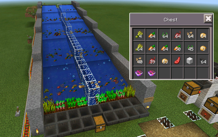 8 Automatic Farms [Redstone] | Minecraft PE Maps