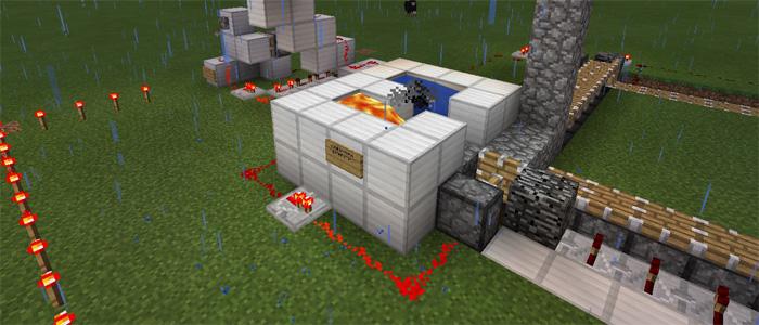 Automatic House Builder [Redstone] | Minecraft PE Maps