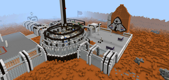 Hunger Games Mars PvP Minecraft PE Maps - Maps fur minecraft