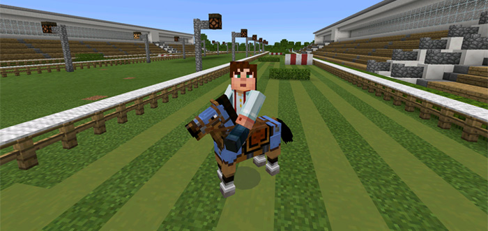 Horse Racing Minigame Minecraft PE Maps