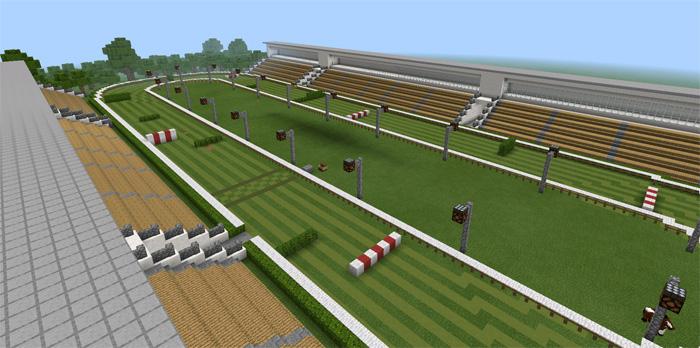 Horse Racing [Minigame] | Minecraft PE Maps