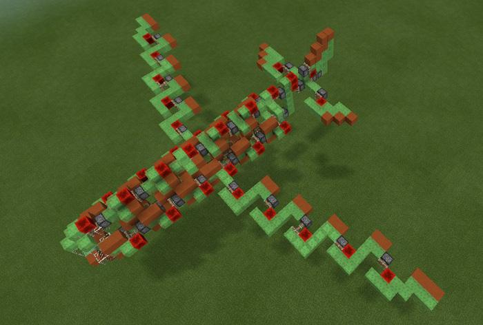Slimeblock Megaplane [Redstone] | Minecraft PE Maps