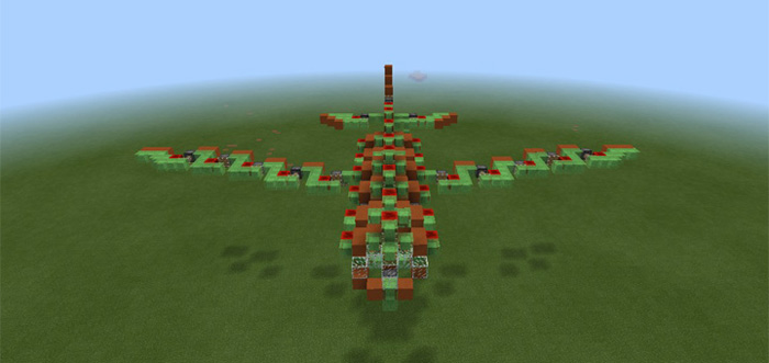 Slimeblock megaplane redstone minecraft pe maps once the airplane have started to move its a bit more difficult to take a seat in one of the boats but it is possible there are seats for 10 players sciox Image collections