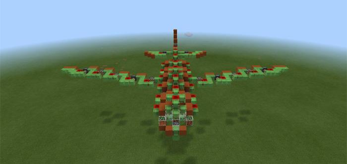 Slimeblock Megaplane Redstone Minecraft Pe Maps