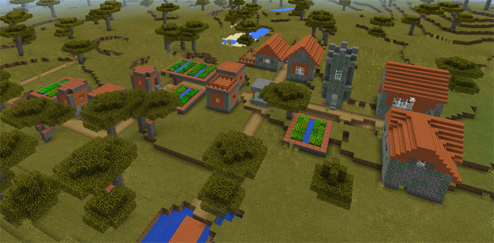 Savannah Zombie Village Minecraft PE Seeds - Zombey skin fur minecraft pe