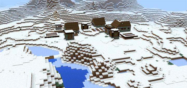 minecraft pe winter seed