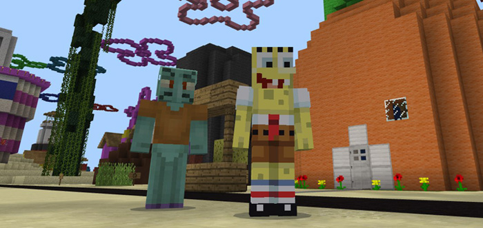 Bikini Bottom SpongeBob Creation Minecraft PE Maps - Skin para minecraft pe de marshmello