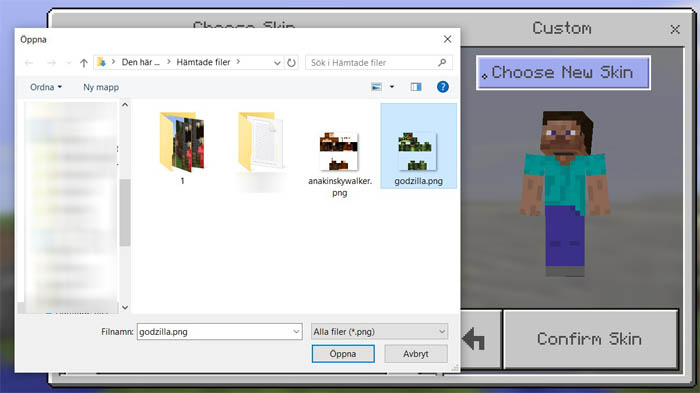 How To Install Minecraft PE Skins For Windows Edition MCPE DL - Skins para minecraft de pc