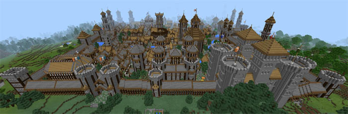 medieval minecraft castle walls