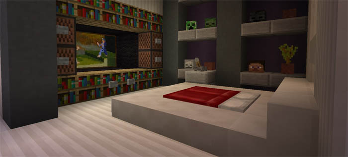master bedroom minecraft mansion redstone minecraft pe maps 12301