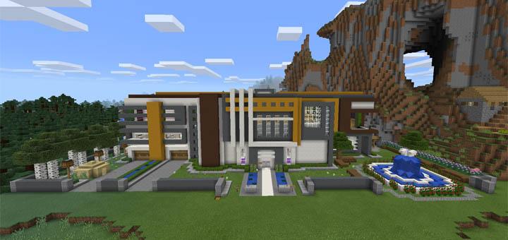 Super Mansion Redstone Minecraft Pe Maps