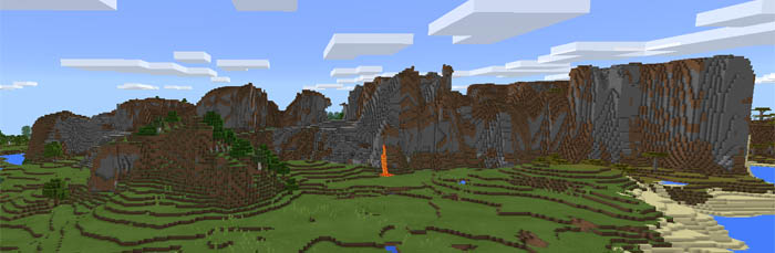 1674738314: Amplified Mountains | Minecraft PE Seeds
