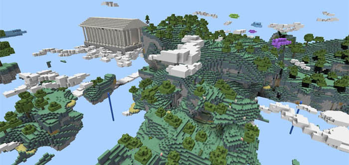 Aether dimension creation minecraft pe maps this majestic temple is the largest structure in the map its probably supposed to be the house of god inside you will find monster spawners and a throne gumiabroncs Gallery