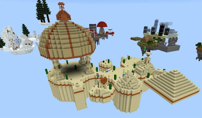 Tiny Continents Survival Minecraft Pe Maps