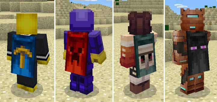 Custom Skin For Capes Minecraft PE Texture Packs - Skins para minecraft pc con capa