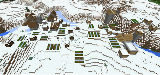 -114373476: Double Snow Village & Forests