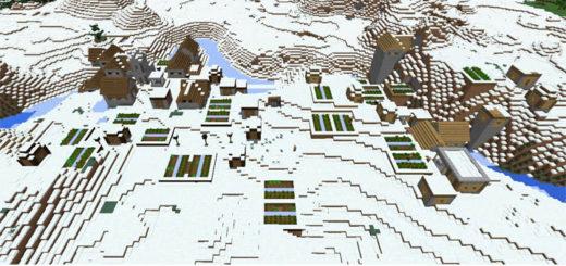 double-snow-village