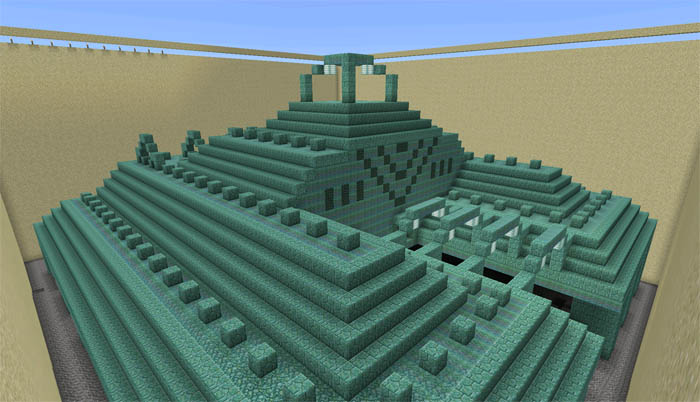 Dried Out Ocean Monument Creation Minecraft Pe Maps