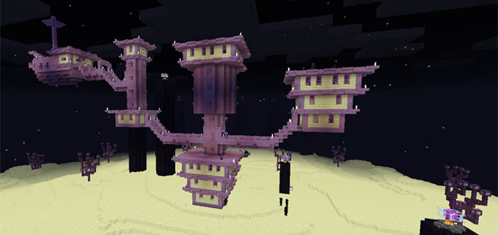 The real end creation minecraft pe maps the real end sciox Gallery