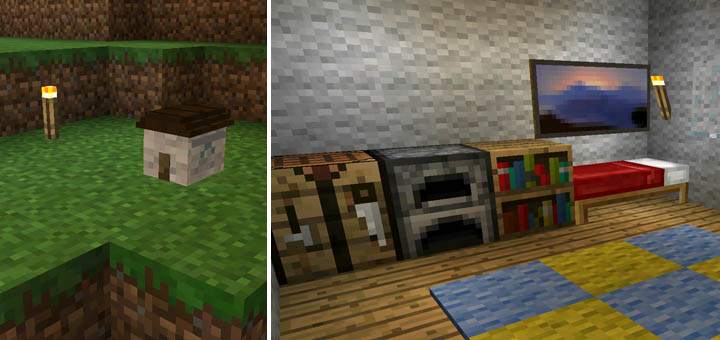 Smallest House Mod | Minecraft PE Mods U0026 Addons