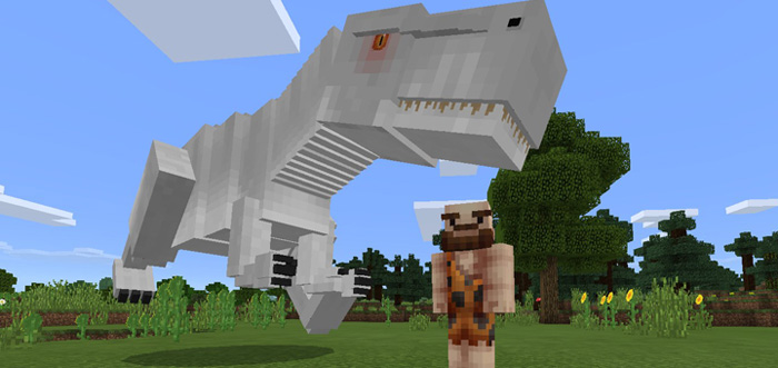 Image Titled Create A Dinosaur Park In Vanilla Minecraft Step 1