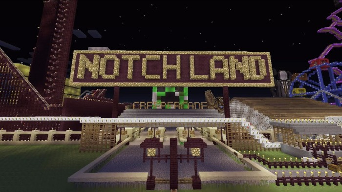 Notch Land Map Notchland Amusement Park [Roller Coaster] [Minigame] | Minecraft  Notch Land Map