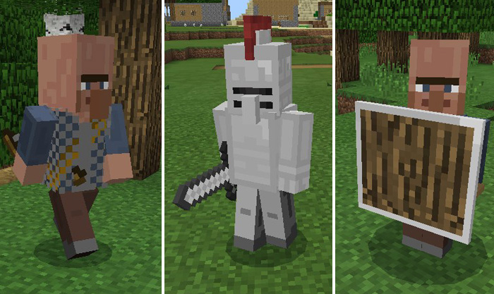 Medieval mobs addon minecraft pe mods addons if a hostile mob spawns nearby a village guard and there is also a horse somewhere close then the village guard will get on the horse and ride it while sciox Images