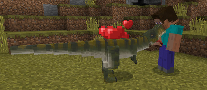 T-Rex Add-on! Tame and ride dinosaurs! Android, iOS, Win10 - MCPE