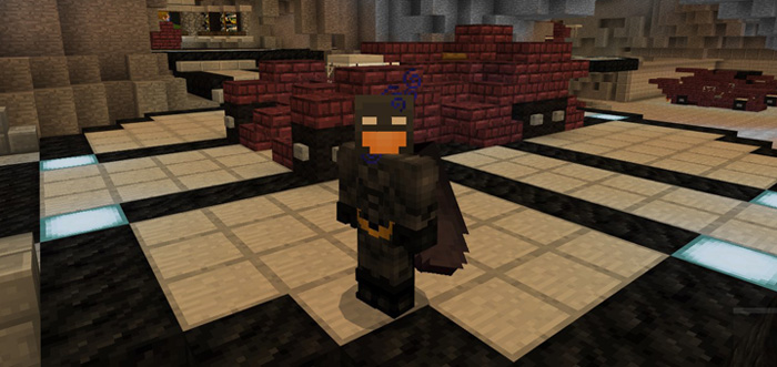 Batman Arkham Knight Batcave Creation Minecraft PE Maps - Skins para minecraft pe de batman