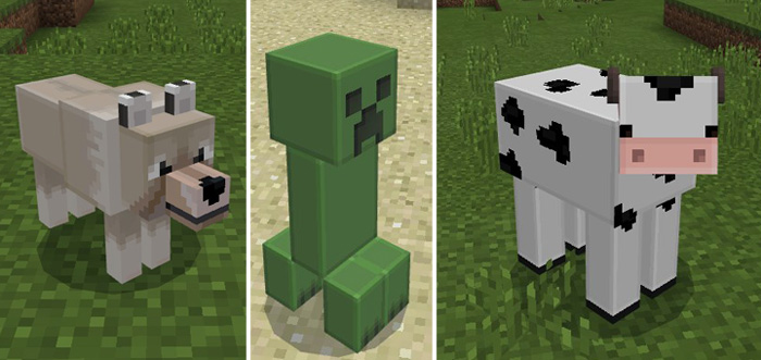 blocky mobs texture pack minecraft pe texture packs