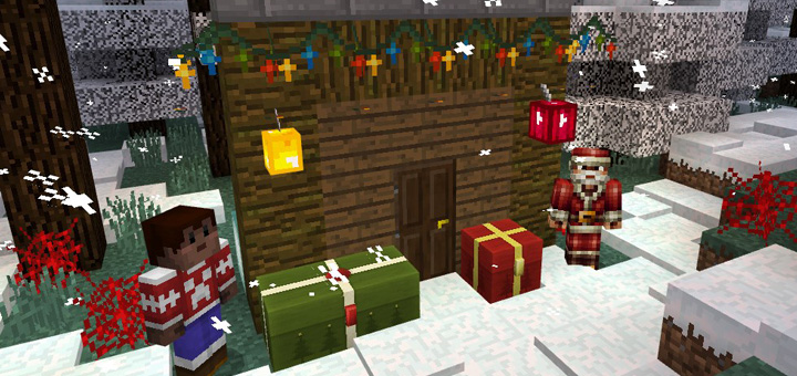 Christmas Decorations In Minecraft Pe : Christmas decorations texture pack minecraft pe