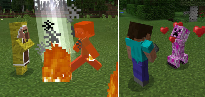 Elemental Mobs Addon Minecraft PE Mods Addons - Minecraft teleport player to mob