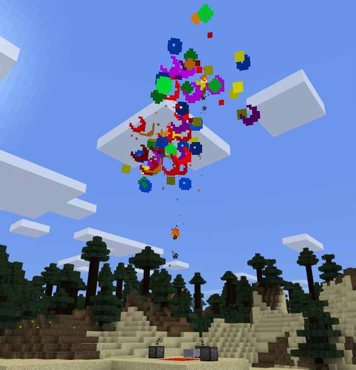 how to make a firework star work in minecraft pe
