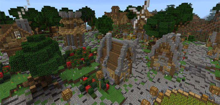 Medieval City Creation Minecraft Pe Maps