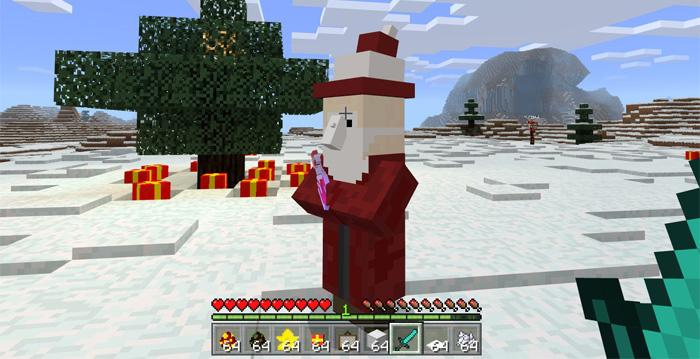 Christmas Minecraft Santa.Mine Gifts Addon Minecraft Pe Mods Addons