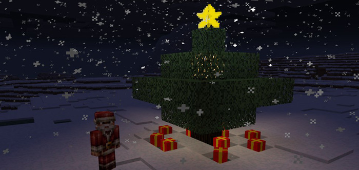 Christmas Decorations In Minecraft Pe : Mine gifts addon minecraft pe mods addons