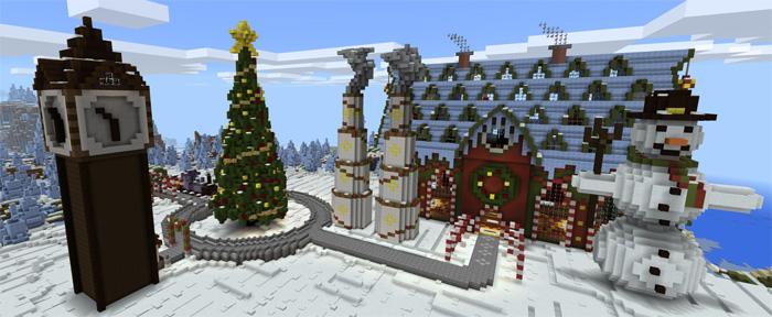 Minecraft Christmas.Tomb Crafter 7 Christmas Minecraft Pe Maps