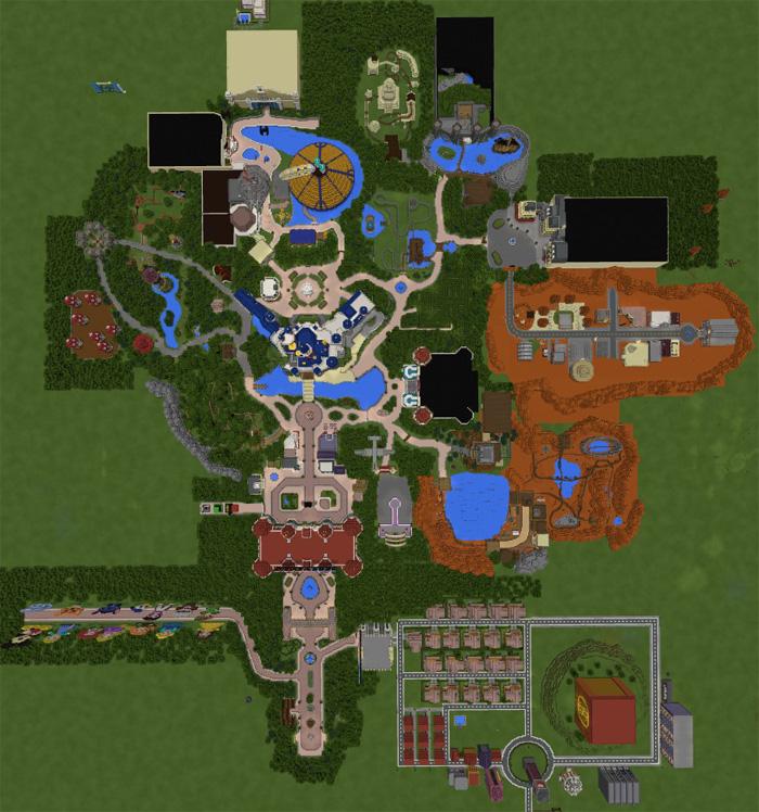 minecraft disneyland paris map download