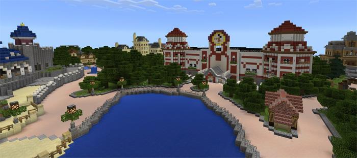 DisneyPark Theme Park Creation Minecraft PE Maps - Disneyland map fur minecraft pe