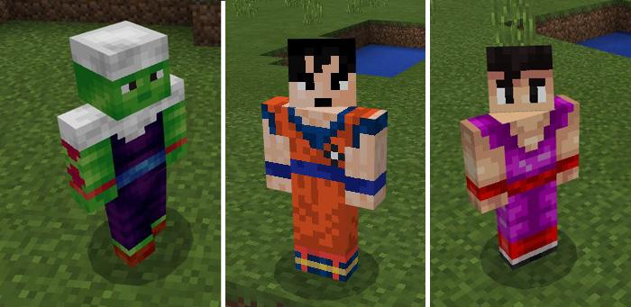Dragon Craft Z Addon Minecraft PE Mods Addons - Skins para minecraft pe de goku