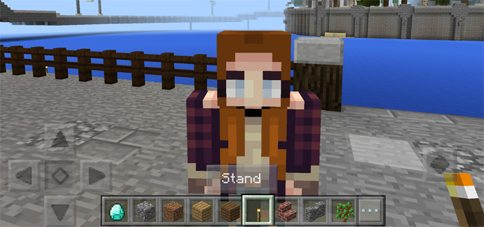 Girlfriends addon minecraft pe mods addons you can sit on your girlfriends shoulders but she wont move an inch im not entirely sure what the use for this is but its definitely possible sciox Images