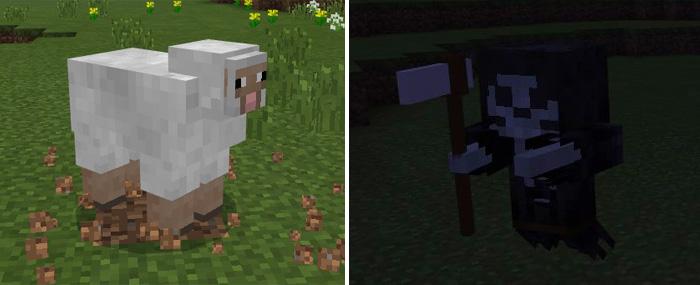 Grim Reaper Addon Minecraft PE Mods Addons - Skins para minecraft pe fantasma